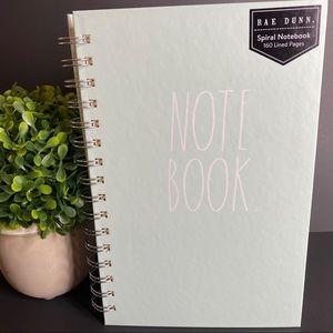 RAE DUNN Note Book Light Green Spiral Notebook
